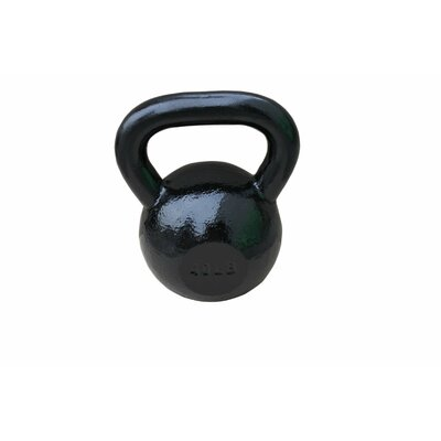 Sunny Health & Fitness 40 lbs Kettle Bell in Black