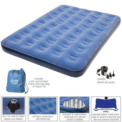 Full Low Profile Flock Top Air Bed