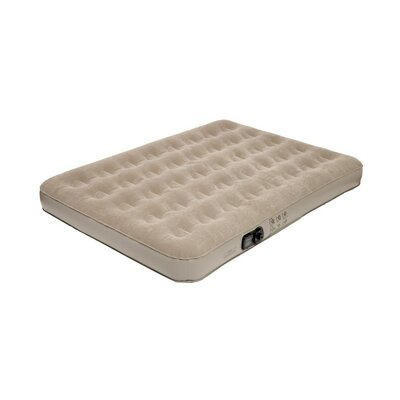 Pure Comfort Full Low Profile Suede Top Air Bed with  Built in Pump