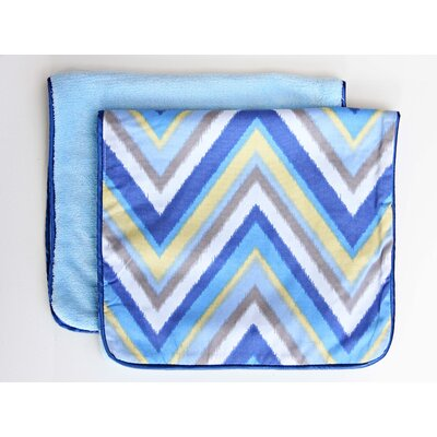 Caden Lane Ikat Chevron Burp Set
