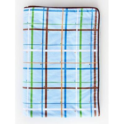 Caden Lane Boutique Plaid Piped Blanket