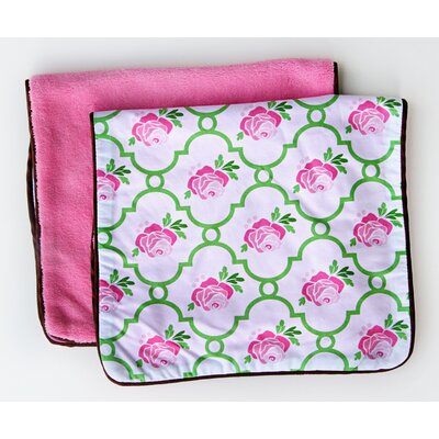 Caden Lane Boutique Rose Lattice Burp Set