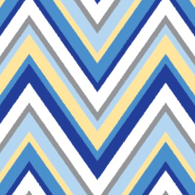 Caden Lane Ikat Chevron Changing Pad Cover