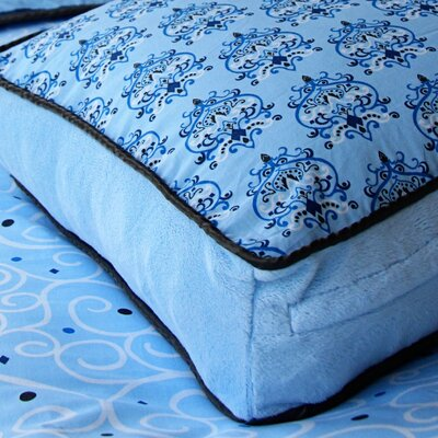 Luxe Blue Square Cotton Pillow