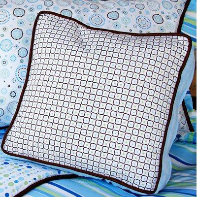 Caden Lane Classic Blue Square Cotton Pillow
