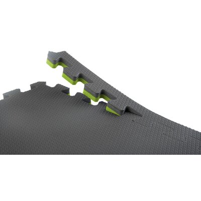 Norsk Floor Recyclamat Reversible Foam Mats in Black / Gray (Pack of 4)