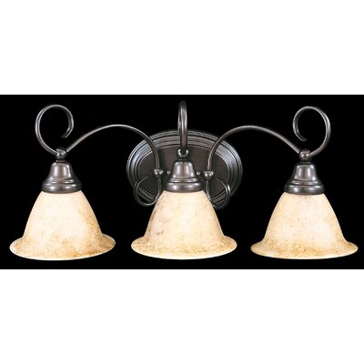 Framburg Black Forest 3 Light Vanity Light