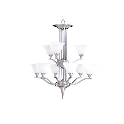 Framburg Bellevue 9 Light Dining Chandelier