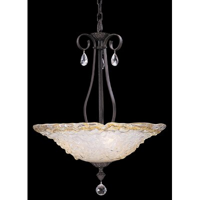 Framburg Rhapsody 3 Light Inverted Pendant