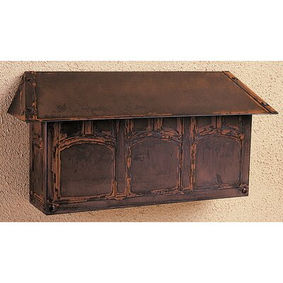 Arroyo Craftsman Evergreen Horizontal Wall Mounted Mailbox