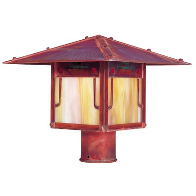 Arroyo Craftsman Pagoda 1 Light Outdoor Post Lantern