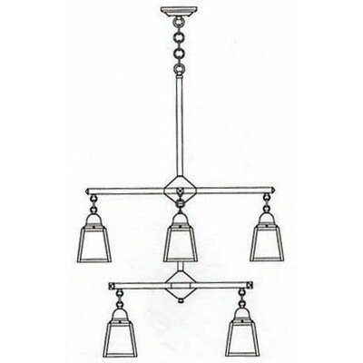 Arroyo Craftsman A-Line 8 Light Chandelier
