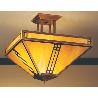 Arroyo Craftsman Pasadena 4 Light Semi Flush Mount