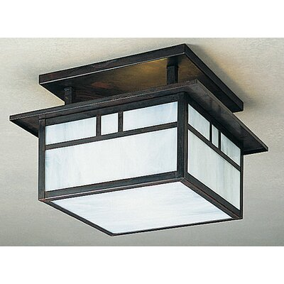 Arroyo Craftsman Huntington 2 Light Semi Flush Mount