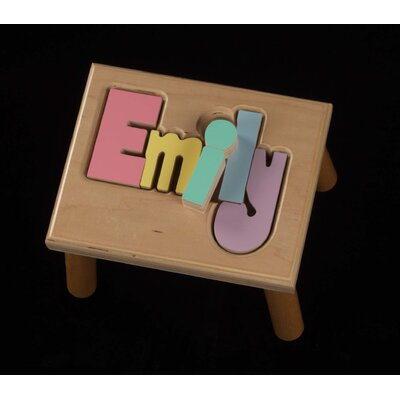 Hollow Woodworks Personalized Name Stool With 8 Letters