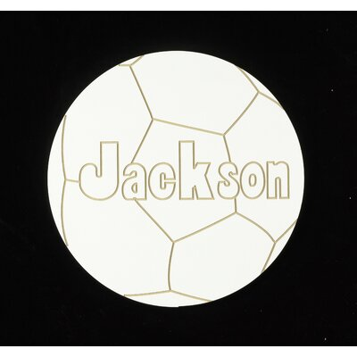Hollow Woodworks Personalized Soccer Ball Wall Plaque