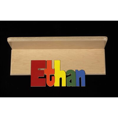 Hollow Woodworks Personalized Name Book Shelf With 12 Letters