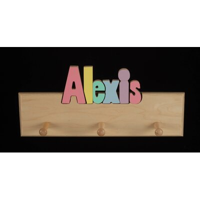 Hollow Woodworks Personalized Coat Rack With 8 Letters