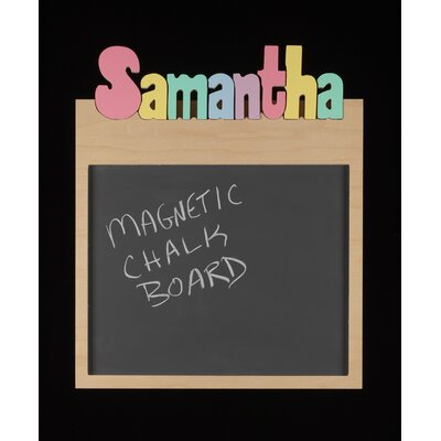 Hollow Woodworks Personalized Memo Board With 8 Letters