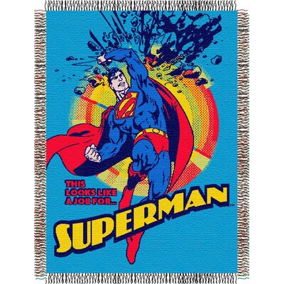 Northwest Co. Entertainment Tapestry Throw Blanket - Superman Smash