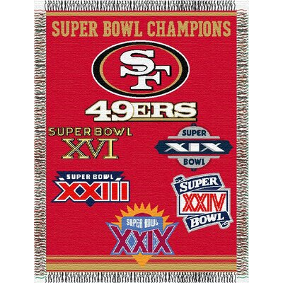 Northwest Co. NFL Commemorative Tapestry Throw