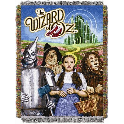 Northwest Co. Entertainment Wizard of Oz Group Tapestry Throw