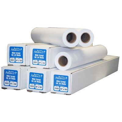 "TST Impreso 36"" x 150' Ink Jet Bond Engineering Rolls (2 Rolls)"