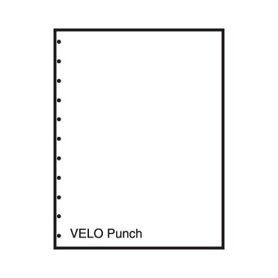 "TST Impreso 8.5"" x 11"" Pre-Perfed and Punched Copy Paper with Velo Style (2500 Sheets)"