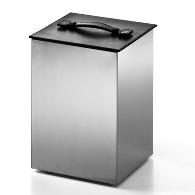 WS Bath Collections Complements Secioni Waste Basket with Lid