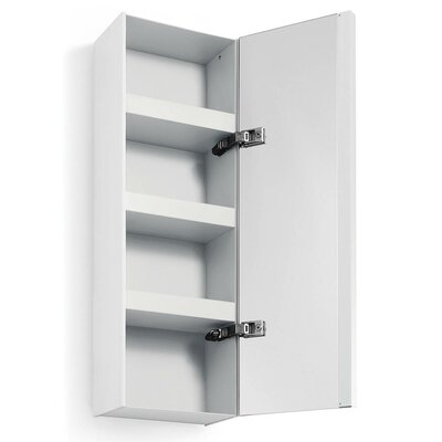 "WS Bath Collections Linea Ciacole 10.4"" x 31.5"" Surface Mount Medicine Cabinet"