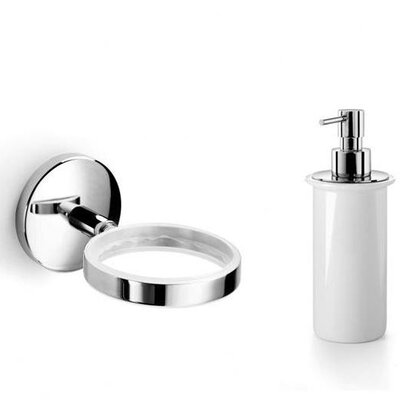 Noanta Wall-Mount Soap Dispenser and Holder