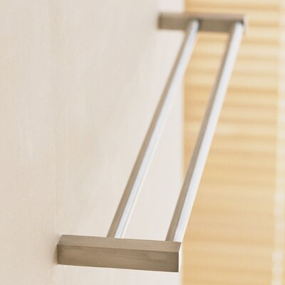"""WS Bath Collections Metric 19.7"""" Wall Mounted Double Towel Bar"""