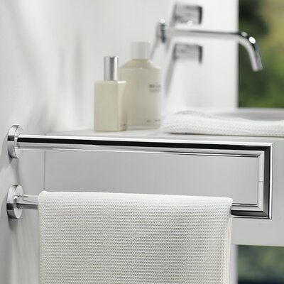 WS Bath Collections Wall Mounted Kubic Cool Double Lateral Towel Bar