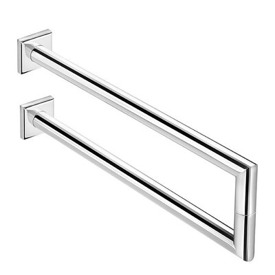 WS Bath Collections Kubic Class Wall Mounted Double Towel Bar