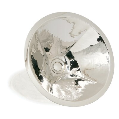 WS Bath Collections Metal Round Hand Crafted Bathroom Sink