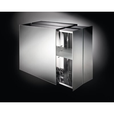 "WS Bath Collections Linea 6.1"" x 22"" Pika Medicine Cabinet in Stainless Steel"