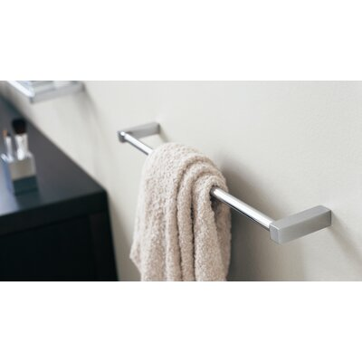 "WS Bath Collections Metric 15.7"" Towel Bar in Polished Chrome"