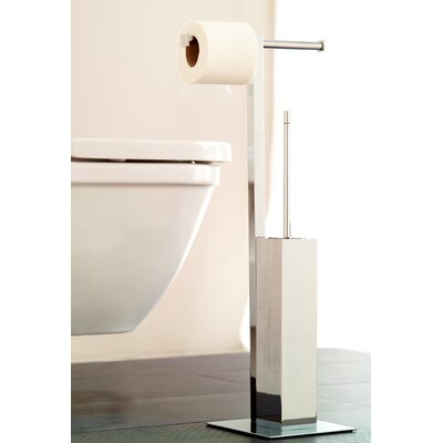 WS Bath Collections Complements Metric Free Standing Toilet Set in Polished Chrome
