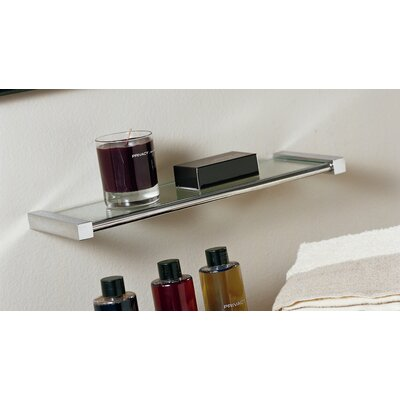 "WS Bath Collections Metric 7.08"" x 3.8"" Shelf in Polished Chrome"