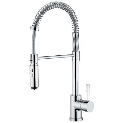 WS Bath Collections Linea One Handle Single Hole Bar Faucet with Pull Out Spray