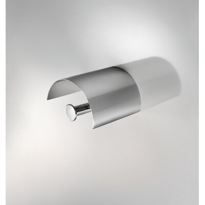 "WS Bath Collections Duemilla 5.3"" x 4.9"" Toilet Paper Holder with Cover in Polished Chrome"
