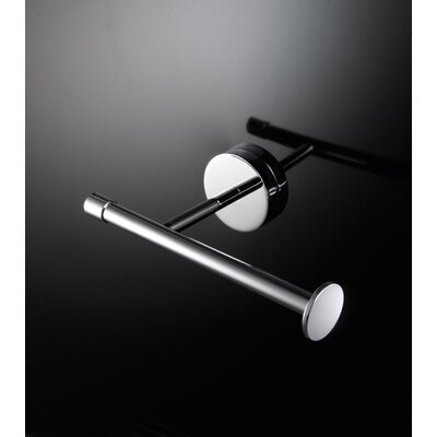 "WS Bath Collections Duemilla 11"" Toilet Paper Holder in Polished Chrome"