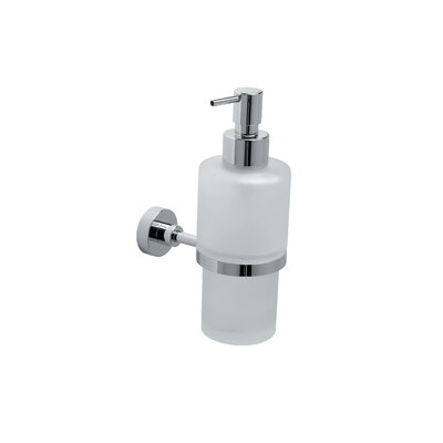 "WS Bath Collections Baketo 11"" Soap Dispenser Holder in Polished Chrome"