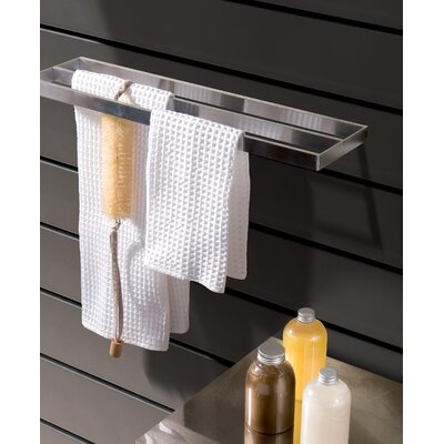 "WS Bath Collections Skuara 15.7"" Double Towel Bar in Polished Chrome"