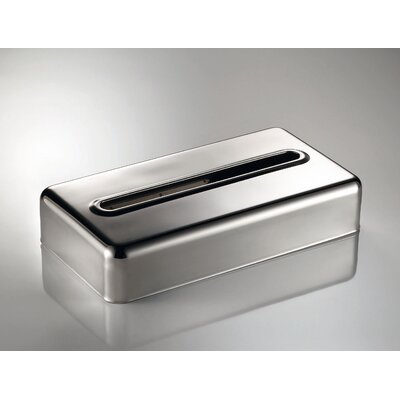 "WS Bath Collections Otel 2.2"" x 10.4"" Tissue Box in Stainless Steel"