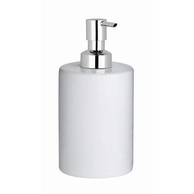 "WS Bath Collections Complements 2.2"" W x 2.2"" Saon Soap Dispenser in Polished Chrome"