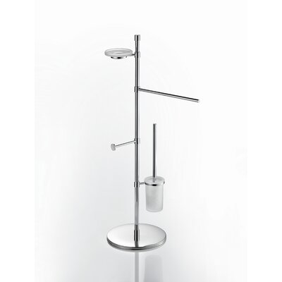 "WS Bath Collections Complements 10.8"" x 10.8"" Rampin Towel Stand in Polished Chrome"