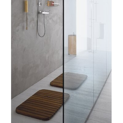 "WS Bath Collections Complements Tapie Shower Mat in Teak Wood - 2'5"" x 2'"