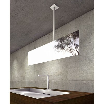 "WS Bath Collections Mirror Pure 37"" Hydrus Ceiling Mount Mirror in Stainless Steel"