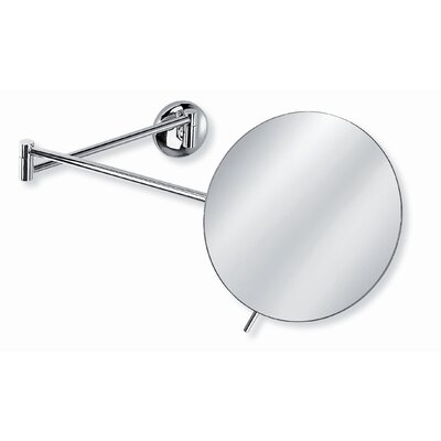 "WS Bath Collections Mirror Pure 7.3"" Mevedo Wall Mount Make Up Magnifying Mirror in Polished Chrome"